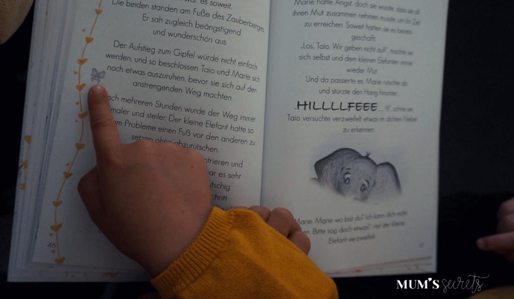 Bilderbuch_Taio und der Zauberberg_Schmetterling suchen