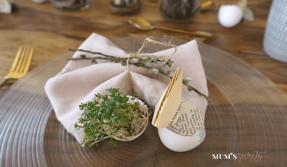 Osterbrunch nachhaltig gedeckt by MUM'S secrets Leinenservietten