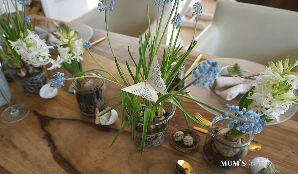 Osterbrunch nachhaltig gedeckt by MUM'S secrets Origami Osterwelt