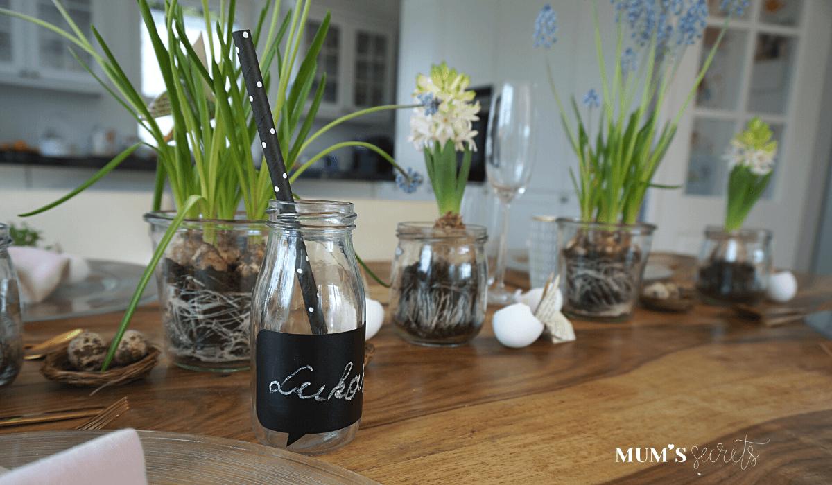 Osterbrunch nachhaltig gedeckt by MUM'S secrets Trinkflasche für Kinder