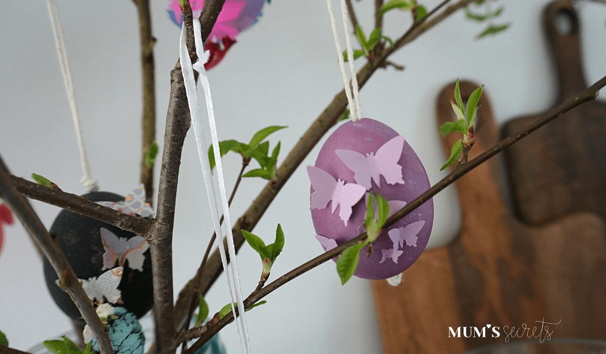 Osterstrauss Tradition by MUM'S secrets Ostereier malen Schmetterling