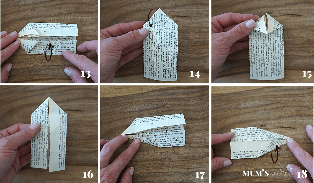 Upcycling Origami Hase Faltanleitung 13-18