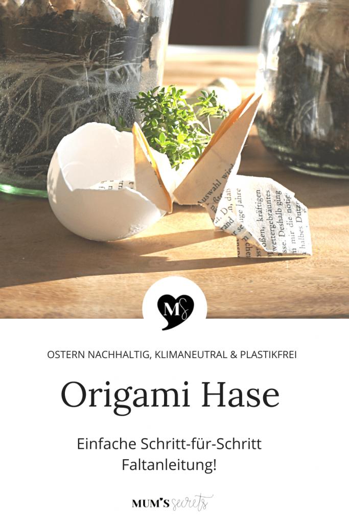 Upcycling_Origami_Hase_Schritt_für_Schritt Faltanleitung