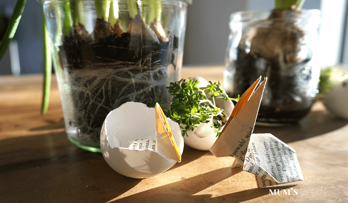 Upcycling Origami Hase für den Osterbrunch