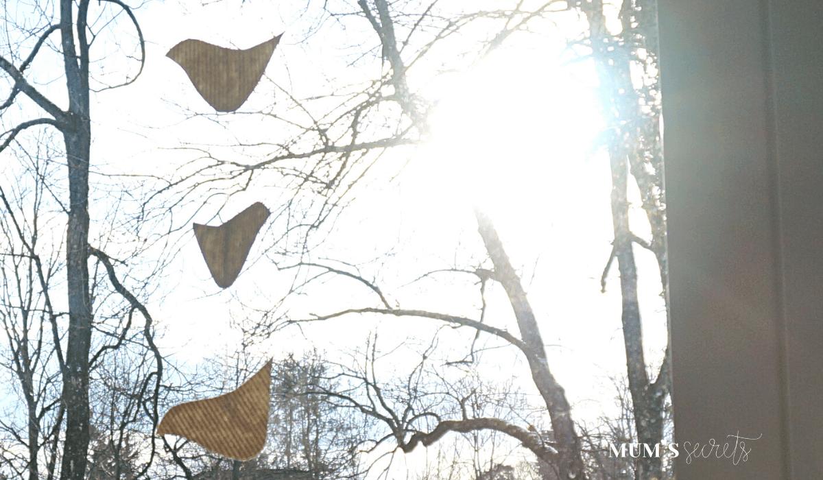 Upcycling DIY Vogel Girlande aus Altpapier