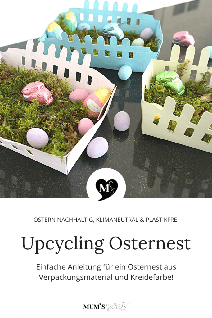 Upcycling Osternest aus Verpackungsmaterial by MUM'S secrets